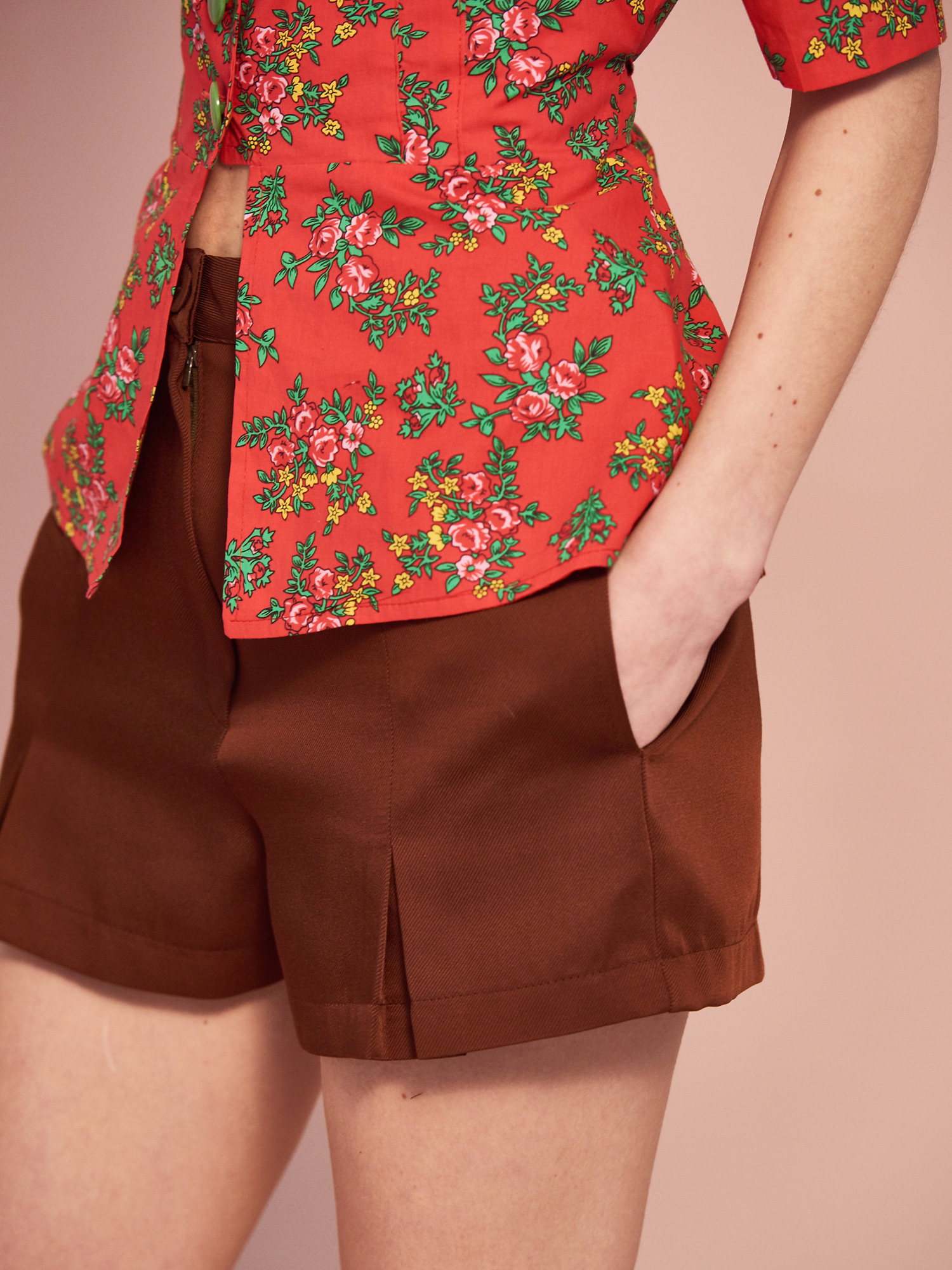 [SUMMER BIG SALE/교환 및 반품불가]Pleat Short Pants(3col)