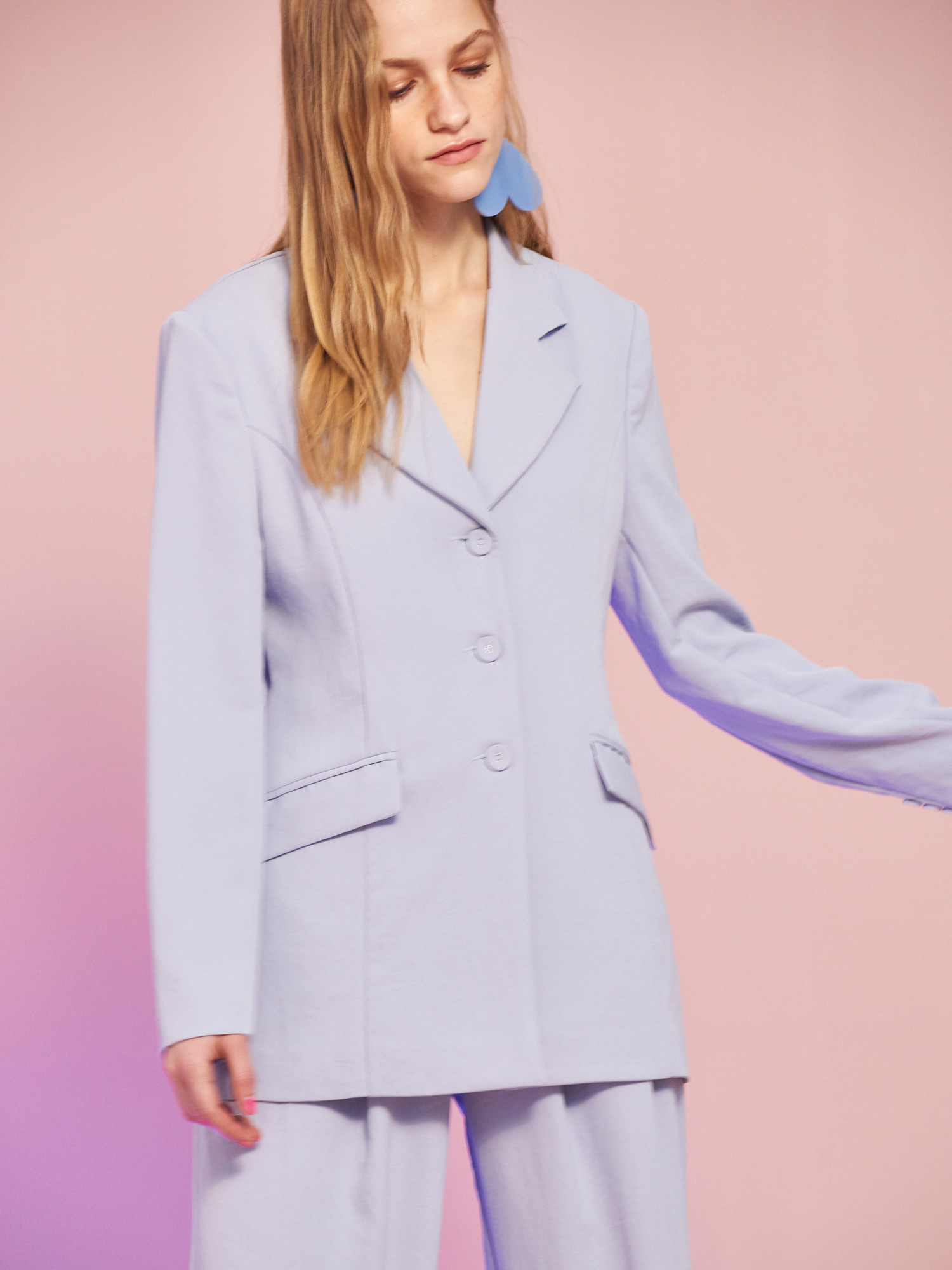 Minimal Jacket in Sky Blue