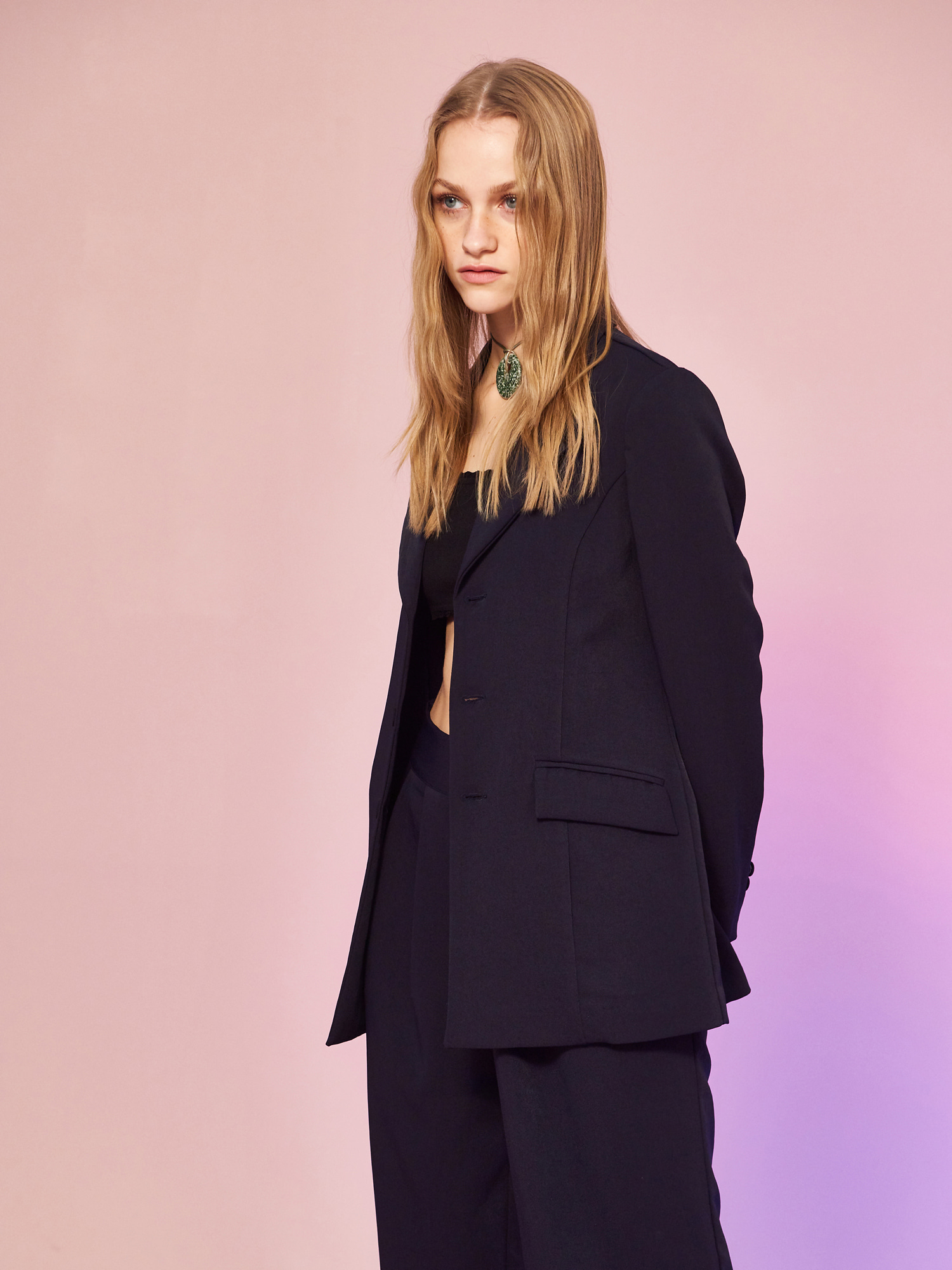 Minimal Jacket in Navy