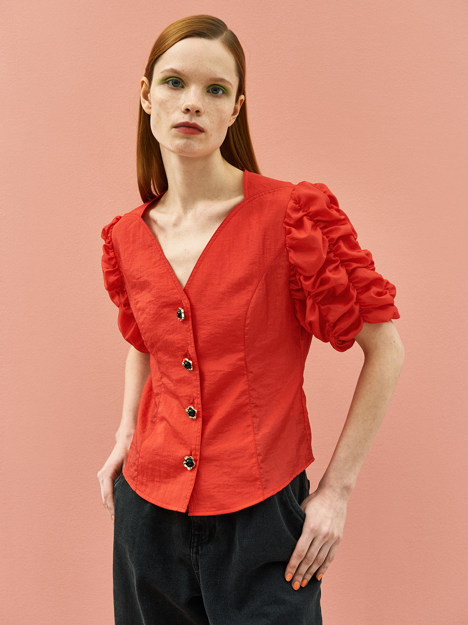 [SUMMER BIG SALE]Cockscomb Blouse in Red