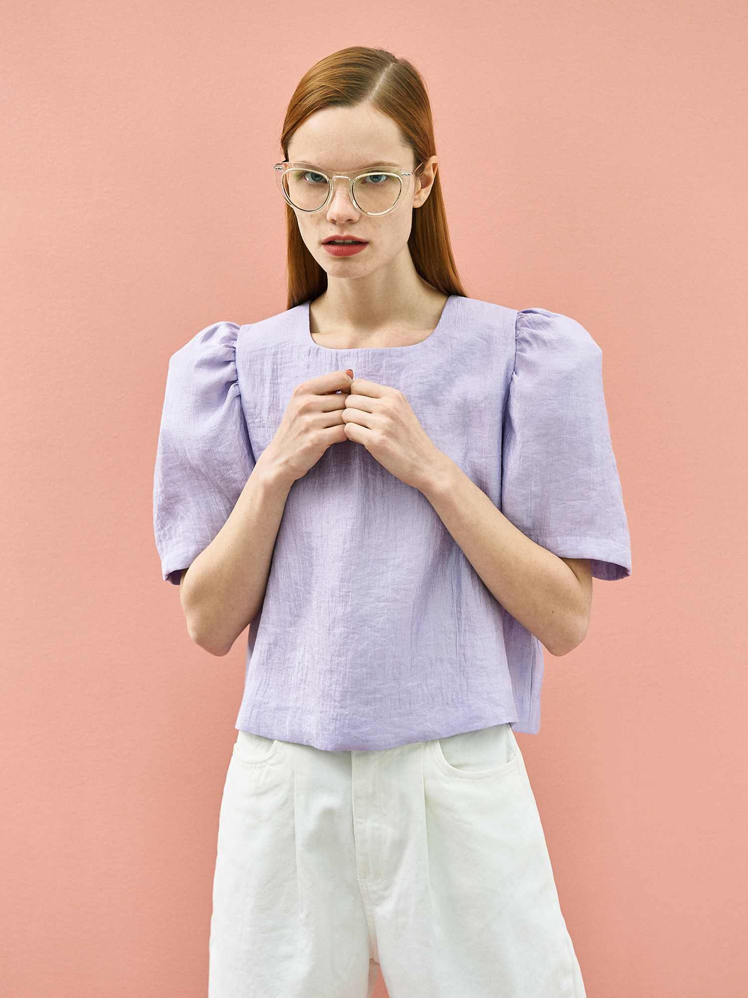 Twinkle Puff Blouse in Lilac