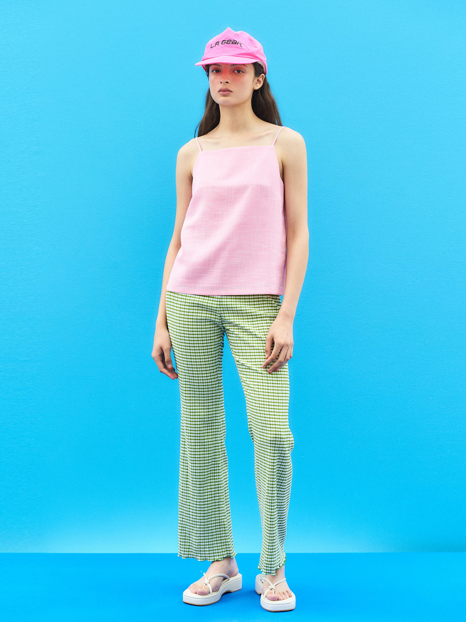 [SUMMER BIG SALE]Gingham Check Banding Pants(5col)